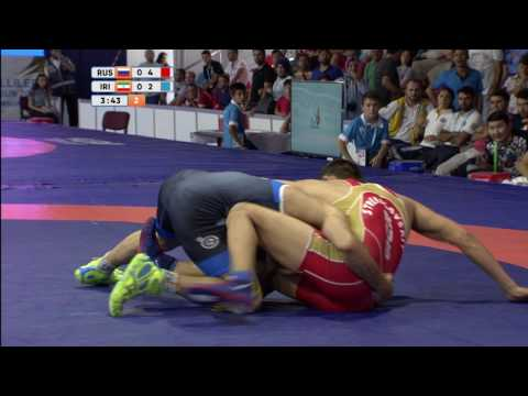 2017 07 26 WRESTLING FREESTYLE 70KG GOLD METAL BOUT RUSSIA   IRAN HIGHLIGHTS DEAFLYMPICS