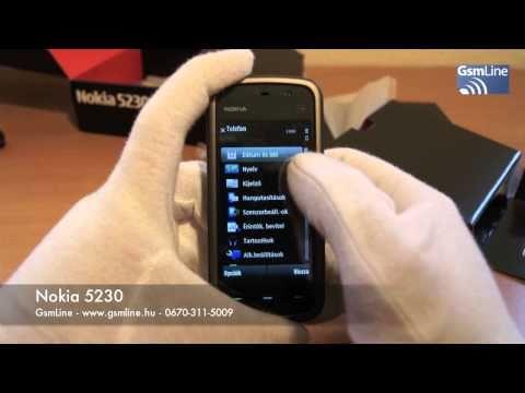 Nokia 5230 bemutató | www.GsmLine.hu