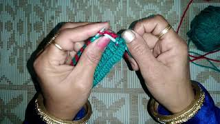 Woolen Design 1 | How to make Check-Box Pattern in woolens by Knitting
