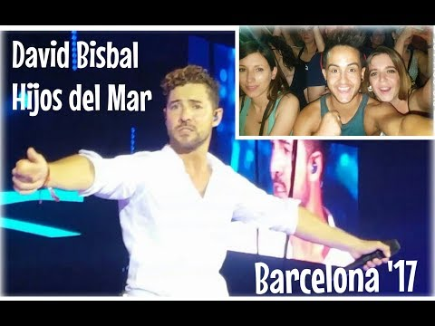 Concierto DAVID BISBAL Barcelona 2017 Palau Sant Jordi #Tour Hijos del mar