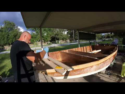 Bateau XF20 Boat Build 19 Laminating and Framing The Front Bulkhead