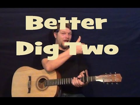 Better Dig Two (The Band Perry) Easy Strum Guitar Lesson Licks How to Play Tutorial