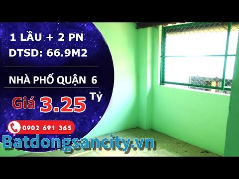 Bán nhà nở hậu hẻm Gia Phú quận 6, diện tích 66.9m2 với 2 phòng ngủ