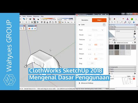 Plugin ClothWorks SketchUp Review Bahasa Indonesia by Wahyues GROUP
