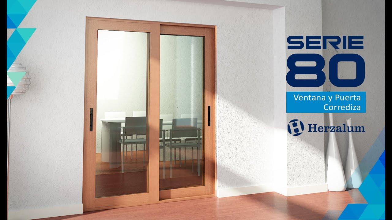 Ventana y puerta corrediza serie 80 youtube for Puerta corrediza pvc