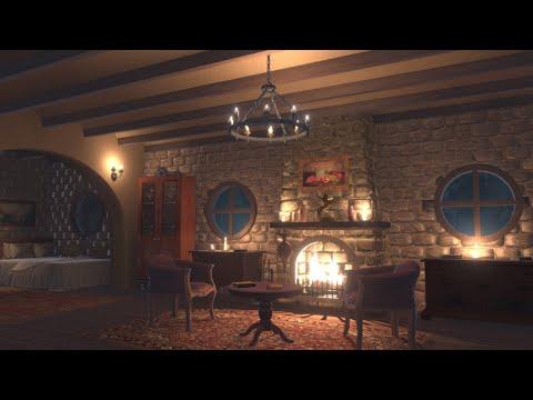 rain-&-thunderstorm-&-fireplace-sounds-10-hours- -cozy-place
