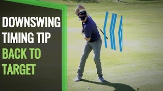 GOLF DOWNSWING SEQUENCE: KEEP BACK TO TARGET FOR SMOOTH POWER
