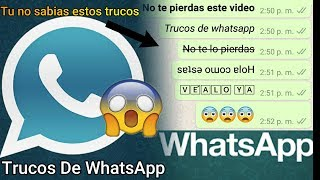 Trucos Para Whatsapp Plus Android - Iphone 2019