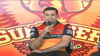 Sunrisers Hyderabad Team Press Meet   IPL   Muralitharan   VVSLaxman   Tom Moody   ABN Entertainment
