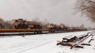 Military Train Going East thru Fairport, NY