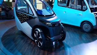 Mahindra Udo and ATOM Electric Concepts | Auto Expo 2018 | MotorOctane
