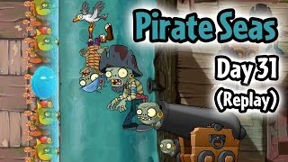 Plants vs Zombies 2 - Pirate Seas Day 31 Replay: Infi-nut Strategy | Pinata Party 2/24/2017