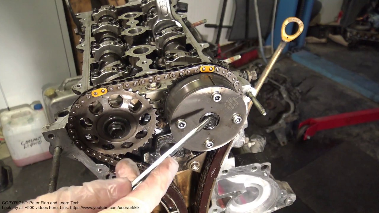 What Are Yellow Markings In Toyota Timing Chain Youtube Ford 2006 5 4 Tensioners