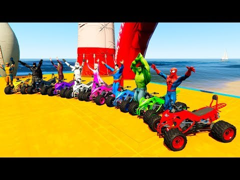 Thumbnail: LEARN COLORS AND NUMBERS ATV JUMPER WATER Cartoon for Kids