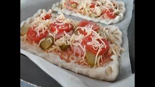 Пицца без заморочек Пицца на слоеном тесте за 25 минут Быстрый рецепт пиццы