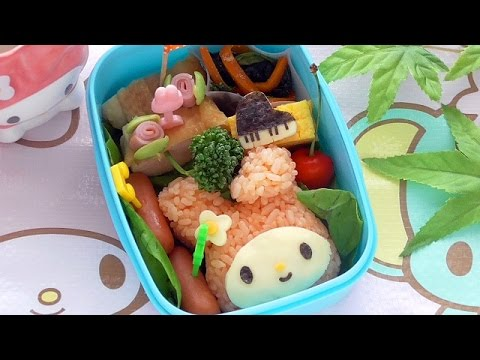 my melody bento lunch box kyaraben youtube. Black Bedroom Furniture Sets. Home Design Ideas