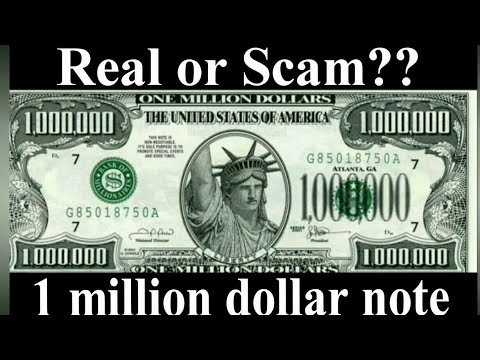 One Million Dollars Banknote. Real Or Scam? ||Fake 1 Million USD Note With Authenticity Letter USA