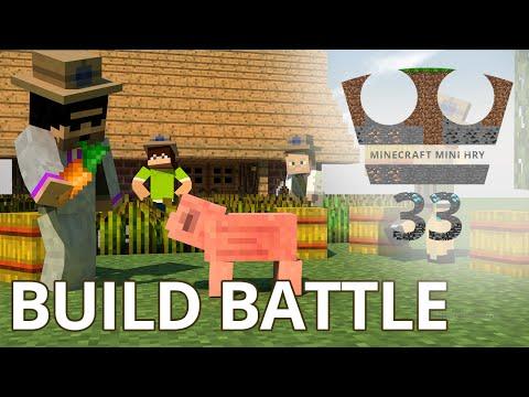 Jirka, GEJMR, Pedro a MenT Hraje - Minecraft Mini hry 33 - Build Battle