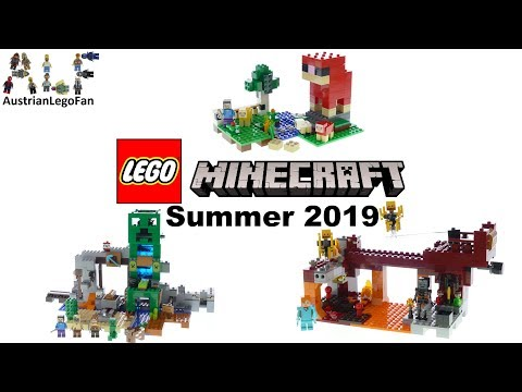 Lego Minecraft Summer Sets 2019 Compilation of all Sets - Lego Speed Build Review