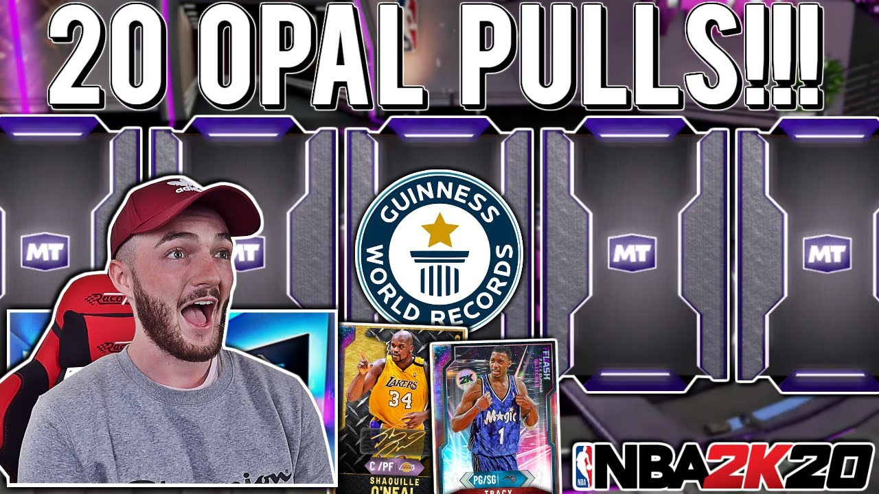 20 GALAXY OPAL PULLS *RECORD*!!! MY BEST PACK OPENING EVER!!! (NBA 2K20 MYTEAM)