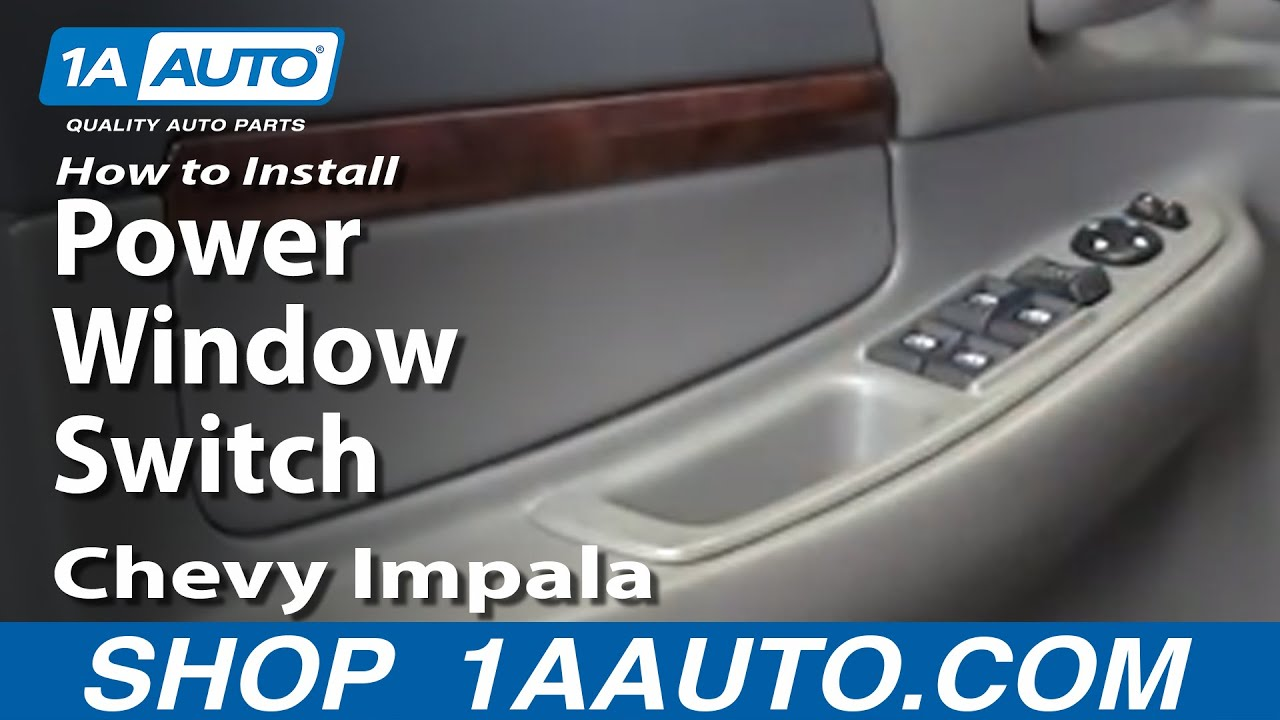 how to install replace power window switch chevy impala 00 05 drivers door youtube. Black Bedroom Furniture Sets. Home Design Ideas