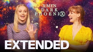 Sophie Turner Jessica Chastain On 'Dark Phoenix'  T Chapter 2   EXTENDED