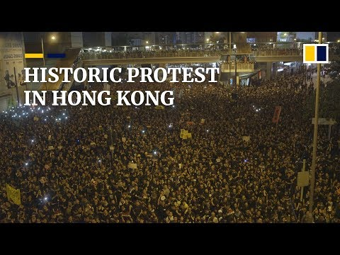 Historic protest in Hong Kong
