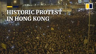 Download Video Historic protest in Hong Kong MP3 3GP MP4