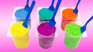 Play Doh Surprise Color Yogurt cups colored with Peppa Pig, Cars & Hello Kitty