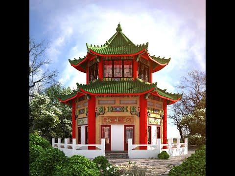 Vẽ mái đầu đao trong thiết kế mái chùa, mái nhà cổ