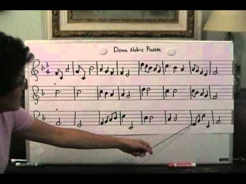 137 - sight singing practice in F major - Dona Nobis Pacem
