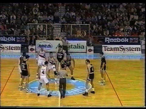 A1 1992/'93 Teamsystem Fabriano Basket - Knorr Bologna 87-95