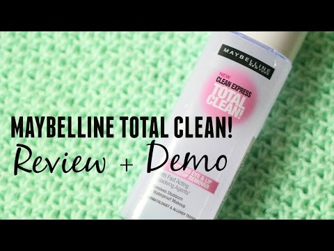 Maybelline Total Clean Makeup Remover Review