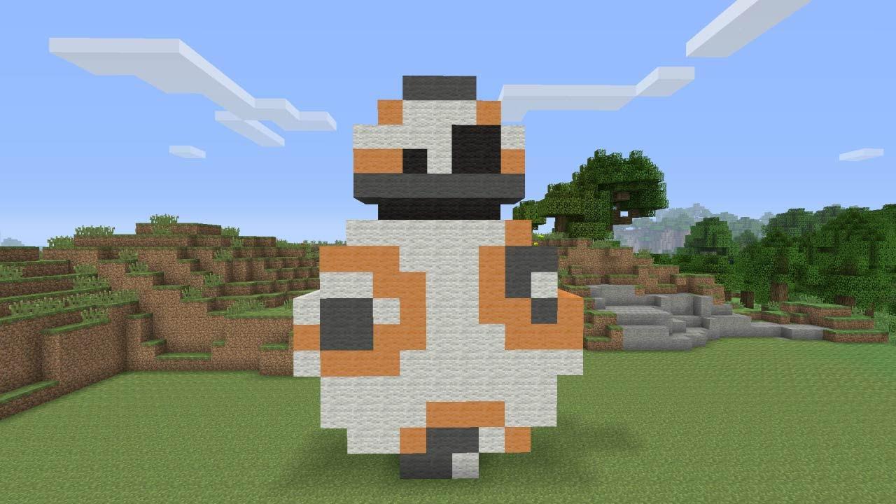 Minecraft Pixel Art Bb 8 Droid From Star Wars