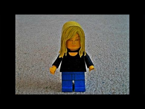Papercraft Paper Model of a Lego Person