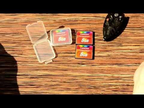 Карта памяти из Китая Transcend Compact Flash за 8$! Мини-обзор и тест на Canon 5D .