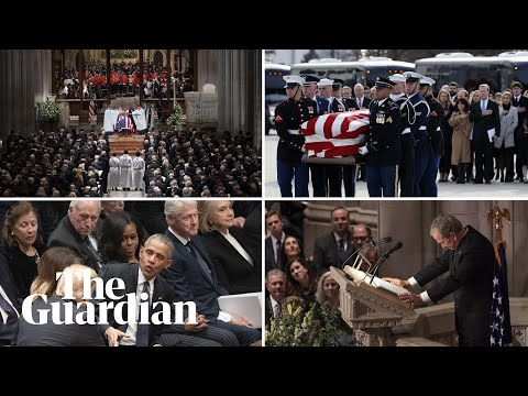 The key moments from George HW Bushs funeral