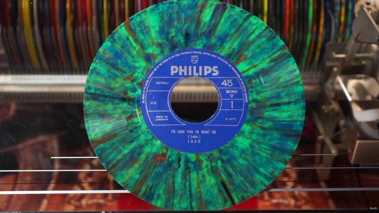 Jonnie's jukebox Plays: I'd Love You To Want Me - Lobo 1972 Multicolour Vinyl Single