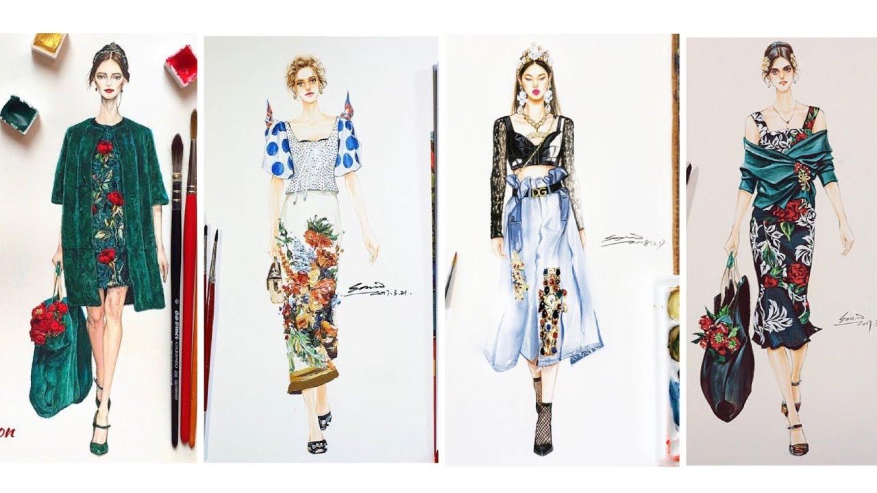 Thiết Kế Thời Trang/Bản vẽ những bộ vấy sang chảnh của Dolce&Gabbana