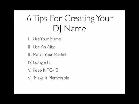 how to work out your dj name