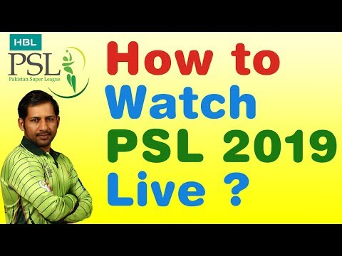 How to Watch PSL 2018 Live on Smartphone/Laptop ? PSL 2018 Season 3 Live Streaming