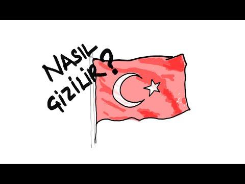 Türk Bayrağı Nasıl çizilir? Kolay Türk Bayrağı çizimi | Turkish Flag Drawing