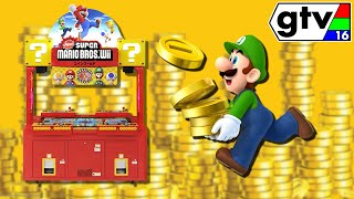 New Super Mario Bros Wii Coin World Arcade Game! Gaijillionaire