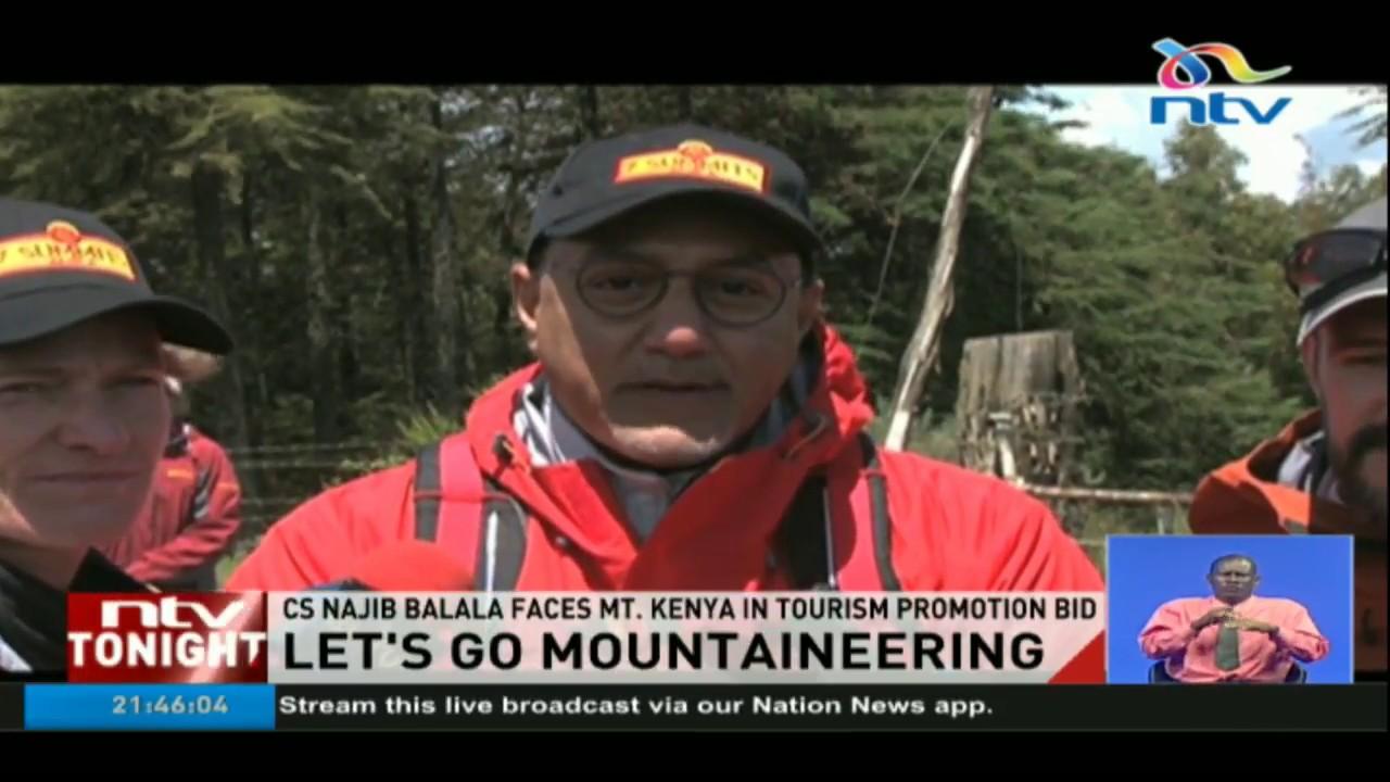 CS Najib Balala to climb Mt. Kenya in tourism promotion bid