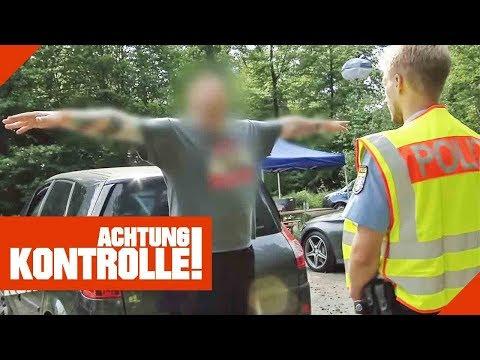 Polizei kontrolliert auffälligen Mann! Sind Betäubungsmittel im Spiel?   Achtung Kontrolle