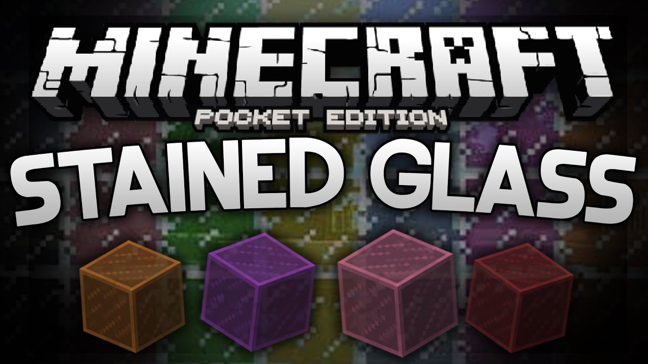 MINECRAFT PE STAINED GLASS! (IOS/ANDROID) NO MODS! - …