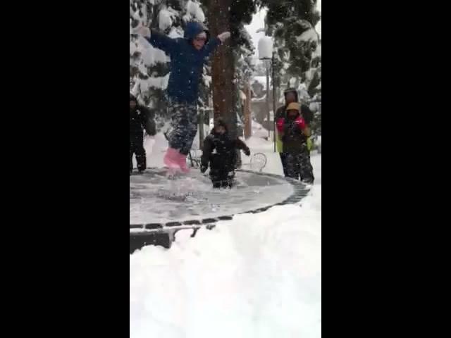 Flips in snow
