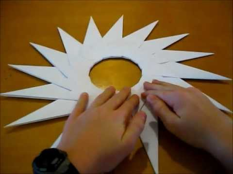 how to make a 16-point ninja star