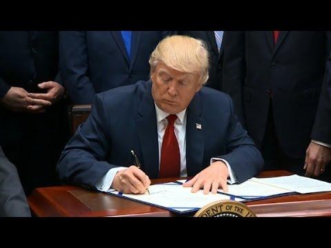 Trump signs health care bill for veterans