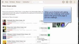 How to join a challenge on Goodreads